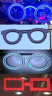 lunette led opticien enseignes et eclairage led. Black Bedroom Furniture Sets. Home Design Ideas